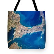 Cape Cod And Islands Spring 1997 View From Satellite Tote Bag