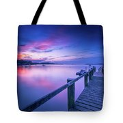 Cape Cod Art Sunrise On Pleasant Bay In July Tote Bag