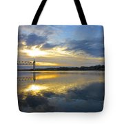 Cape Cod Canal Sunrise Tote Bag