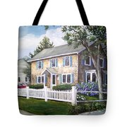 Cape Cod House Painting Tote Bag