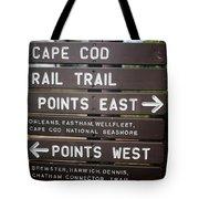 Cape Cod Rail Trail Sign Eastham Tote Bag