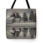 Cape Cod Reflections Black And White Photography Tote Bag