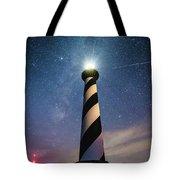 Cape Hatteras Light Under The Stars Tote Bag