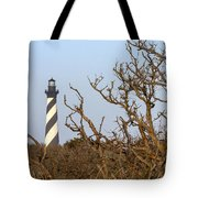Cape Hatteras Lighthouse Through The Brush Tote Bag
