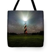 Cape Hatters Light House Stars Tote Bag