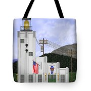 Cape Hinchinbrook Lighthouse In Alaska Tote Bag by Anne Norskog