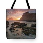 Cape Kiwanda At Sunset Tote Bag