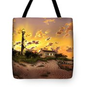 Cape Lookout Lighthouse 2 Tote Bag