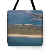 Cape Lookout Lighthouse Distance Tote Bag