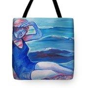 Cape May 1920s Girl Tote Bag