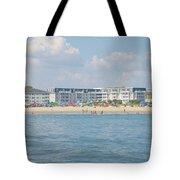 Cape May Beach Scene Tote Bag