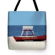 Cape May Lifeguard Station Boat Tote Bag