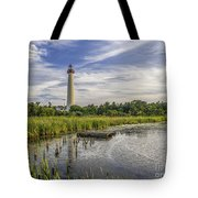 Cape May Lighthouse From The Pond Tote Bag