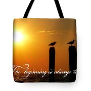 Cape May Morning Quote Tote Bag