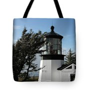 Cape Meares Lighthouse Near Tillamook On The Scenic Oregon Coast Tote Bag by Christine Till
