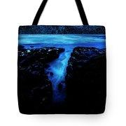 Cape Perpetua Blue Night Tote Bag