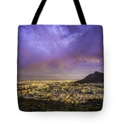 Cape Town From Signal Hill At Sunset Tote Bag