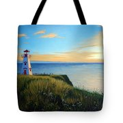 Cape Tryon Lighthouse Tote Bag