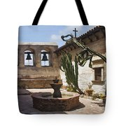 Capistrano Mission Courtyard Tote Bag