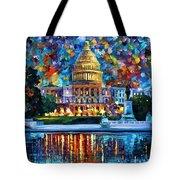 Capital At Night - Washington Tote Bag