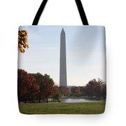 Capital Autumns - The Washington Monument - Under The Trees Tote Bag