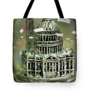 Capital Snow Globe  Tote Bag