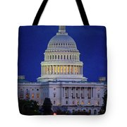 Capitol At Dusk Tote Bag