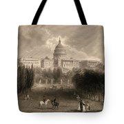 Capitol Of The Unites States, Washington D C Tote Bag