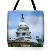 Capitol Over The Botanical Garden Tote Bag