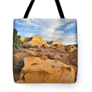Capitol Reef Sunset Clouds Tote Bag