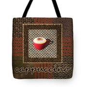 Cappuccino - Coffee Art - Red Tote Bag