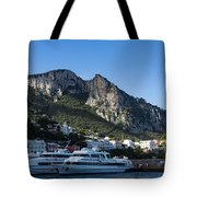 Capri Island Harbor  Tote Bag