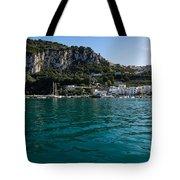 Capri Island Silky Smooth Emerald And Aquamarine Tote Bag