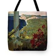 Capri, Italia - Bay Of Naples, Italy - Retro Travel Poster - Vintage Poster Tote Bag
