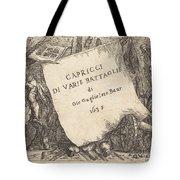 Capricci Di Varie Battaglie (title Page) Tote Bag