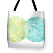Capricorn And Gemini Tote Bag