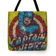 Captain America Mm Mosaic Tote Bag by Paul Van Scott