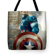 Captain America With Helmet Tote Bag