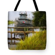Captains Boat Tote Bag