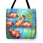 Captivating Clown Fish Tote Bag