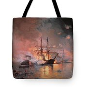 Capture Of New Orleans By Union Flag Officer David G Farragut Tote Bag