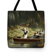 Capture Of The Daughters Of Daniel Boone And Richard Callaway By The Indians Tote Bag