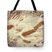 Captured In The Sand Art Tote Bag
