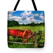 Car - Wagon - The Old Wagon Cart Tote Bag
