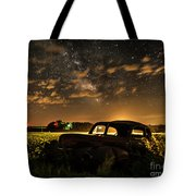 Car And The Milky Way Tote Bag