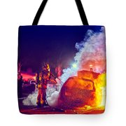 Car Arson  Tote Bag