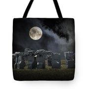 Car Henge Under The Moonlight Tote Bag