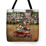 Car - Race - On The Edge Of Their Seats 1915 Tote Bag