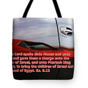 Car Reflection With Text 4 Tote Bag