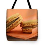 Caramel Orange Macarons Tote Bag